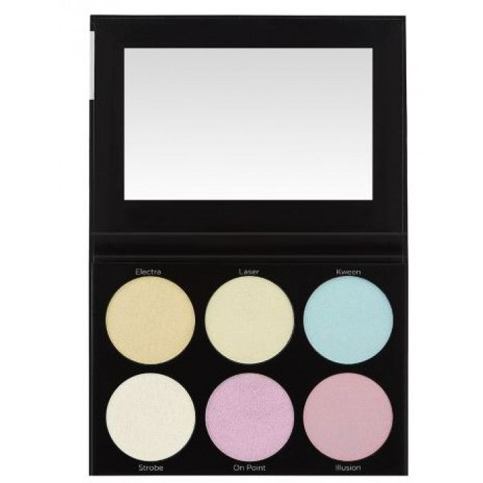 BH Cosmetics Blacklight Highlight - 6 Color Palette - Shopping District