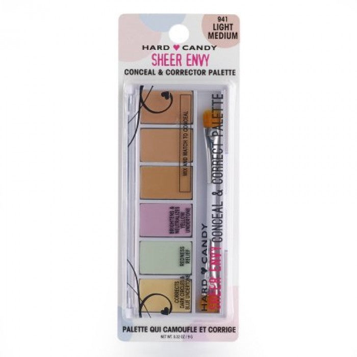 Hard Candy Sheer Envy Conceal & Corrector Palette Light-Medium - Shopping District