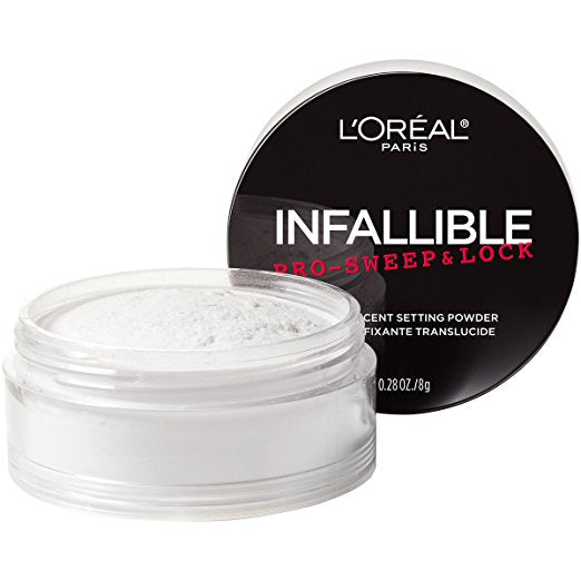 L'Oreal Paris Cosmetics Infallible Pro Sweep & Lock Loose Setting Powder, Translucent - Shopping District