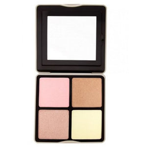 BH Cosmetics Nude Rose Highlight – 4 Color Highlighter Palette - Shopping District