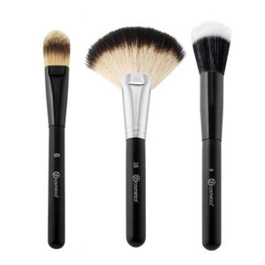 BH Cosmetics Blending Face Trio - 3 Piece Brush Set - Shopping District