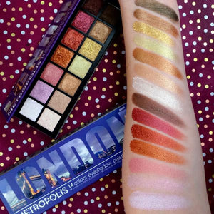 RUDE Metropolis 14 Color Eyeshadow Palette - London
