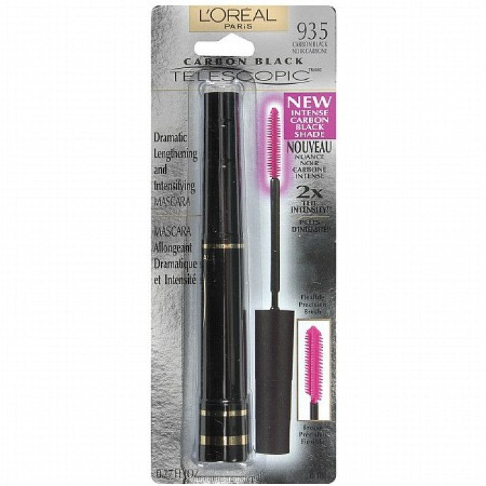 Loreal Telescopic Dramatic Lengthening & Intensifying Mascara, Carbon Black 935 - Shopping District
