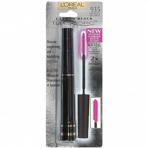 Loreal Telescopic Dramatic Lengthening & Intensifying Mascara, Carbon Black 935