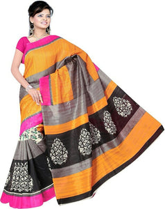 e-VASTRAM WOMENS SLUB SILK PRINTED SAREE…