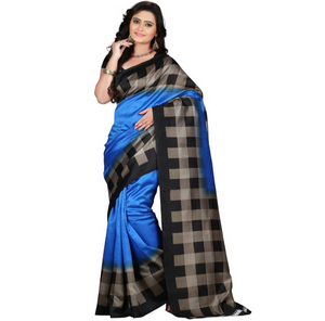 E-Vastram Printed Bollywood Art Silk Saree  (Blue)