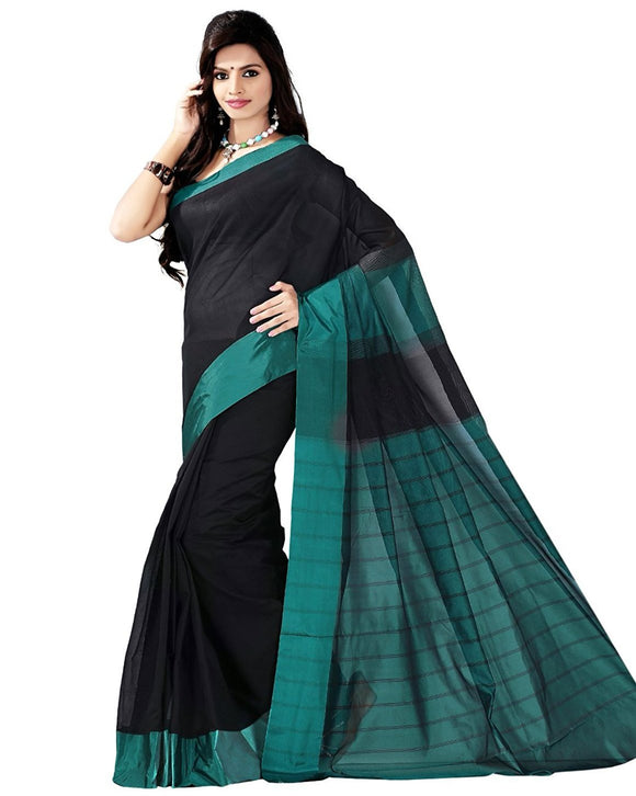 e-Vastram womens BANARAS CHANDERI SATIN BORDER AND PALLU SAREE……