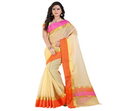 E-Vastram Woven Fashion Art Silk Saree  (Beige)