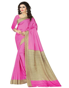 e-VASTRAM Womens Crepe Printed Art Silk Saree(V3102_Pink)