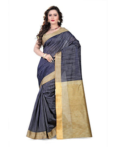 E-Vastram Women's Cotton Silk Saree (KGREY_Grey)