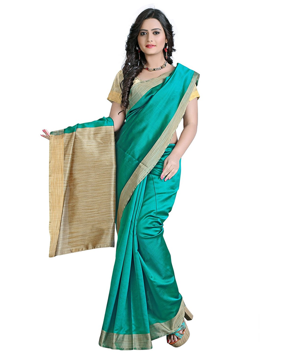 E-Vastram Cotton Silk Saree (Ekpg_Green)