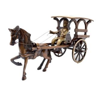 Antique Finish Horse Cart made of Brass