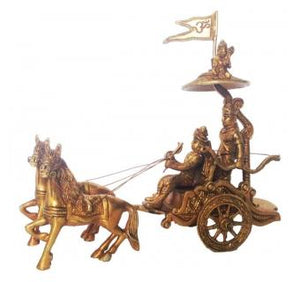 Arjun Rath Statue Brass Metal figure for Decor