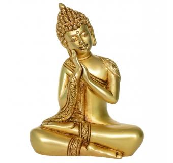Buddha Brass metal Statue in a sweet Pose