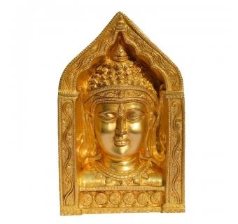 Buddha Face Brass Decorative Frame for Table Decor