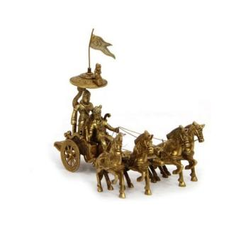 Decorative Brass Arjun Rath with four Horses