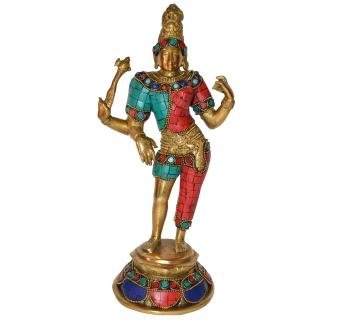 Decorative Figure of Ardhnareshwar Brass Sculpture