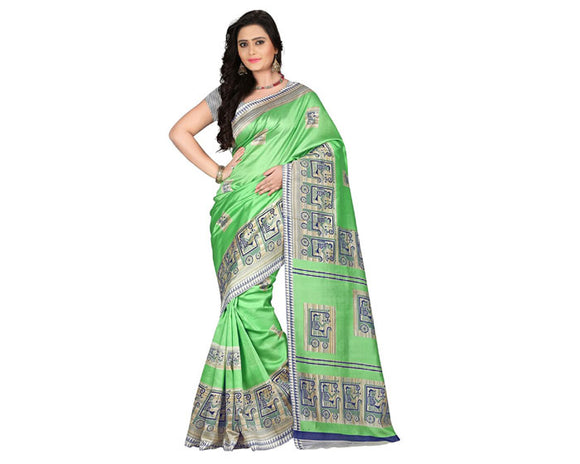 e-VASTRAM Womens Art Mysore Printed Silk(NS3C_Liril)