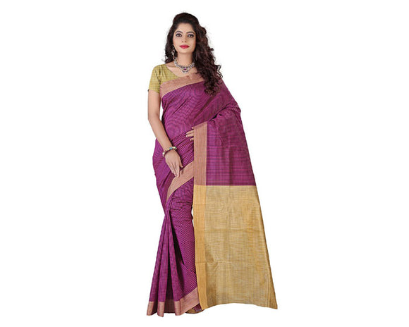 e-VASTRAM Cotton Silk Saree(KERLACHEP_Pink)