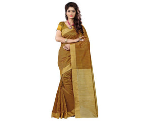 e-VASTRAM Cotton Silk Saree(KERLACHEY_Yellow)