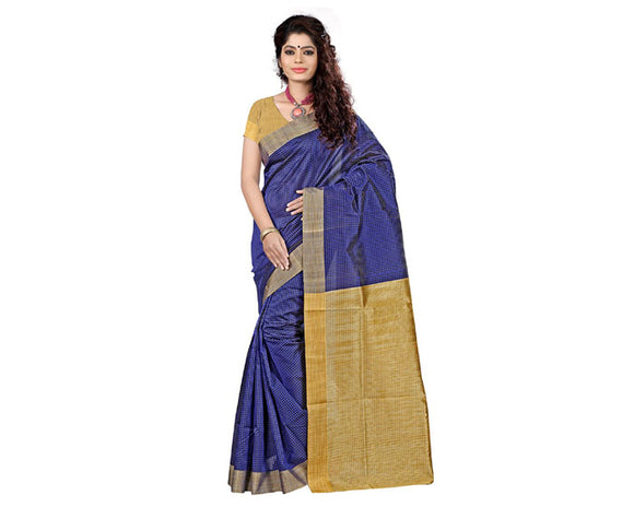 e-VASTRAM Cotton Silk Saree(KERLACHEB_Blue)