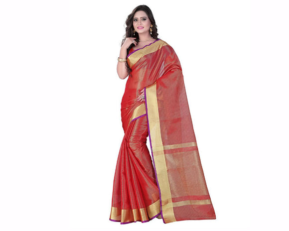 e-vastram Womens Tissue Self Zari All Over Saree(TISSUEM_Maroon)