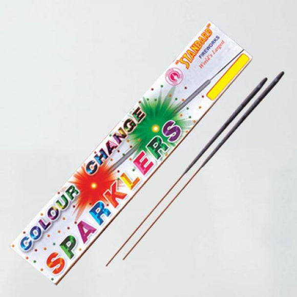 Standard Colour Change Sparklers - 15cm