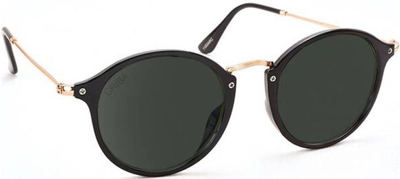Criba Oval Sunglasses  (Black)