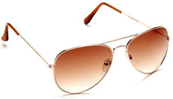 Myyow Aviator Sunglasses  (Brown)