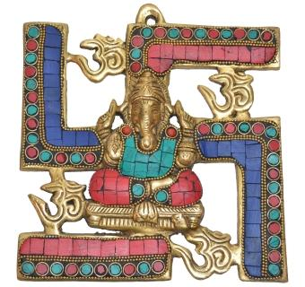 Ganesh coral stone work Wall plate