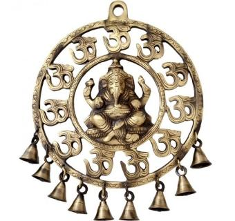 Ganesh Plate with om and bells