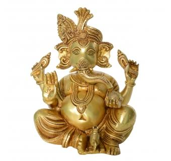 Ganesha Decorative Brass Statue for Home Decor