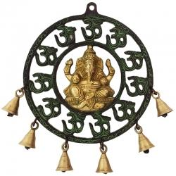 Glorious Wall Hanging of Lord Ganesha with the Bells