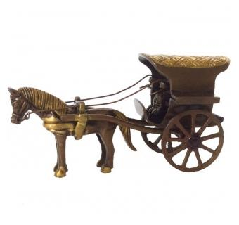 Handicrafted Horse Cart Made of Brass