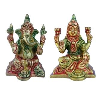 Lakshmi and Ganesha Pair in Yellow Finish 2