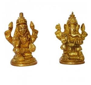 Lakshmi Ganesha Pair made in brass metal