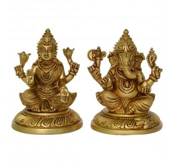 Laxmi Ganesha Pair for Home Temple