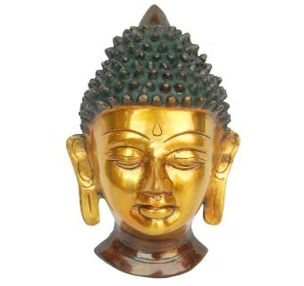 Lord Buddha Face Made of Metal