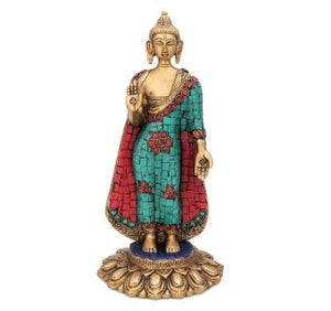 - Lord Buddha Standing Statue with stone finish