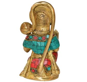 Lord Hanuman Sitting Statue for Worship