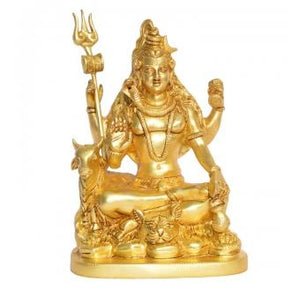 Lord Shiva Brass Decorative Religious Sculpture