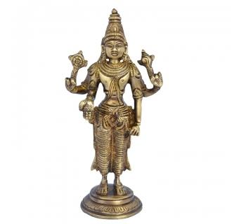 Lord Vishnu Glorious idol Made of Brass For Temple