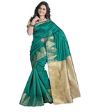 E-Vastram Solid Kalamkari Cotton Saree  (Beige)