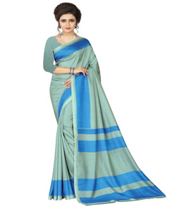E-Vastram Printed Fashion Crepe Saree  (Blue)