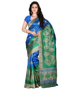 E-Vastram Printed Bollywood Art Silk Saree  (Multicolor)