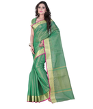 E-Vastram Self Design Bollywood Tissue Silk Saree  (Green)