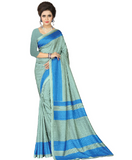 e-VASTRAM Womens Crepe Printed Art Silk Saree(V3123_Blue)