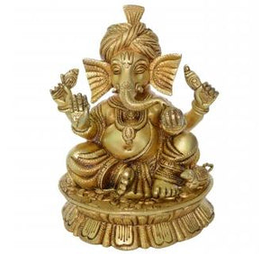Pagdi Ganesha Decorative Statue Btass Table Decor