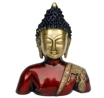 Religious Brass Lord Buddha Resting Statue- A peaceful Decorative Figurine
