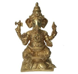 Religious Lord Ganesha Brass Metal Decorative Statue